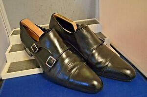 Russell-amp-Bromley-Clasico-Negro-Correa-Doble-Monje-Puntiagudo-Zapatos-UK-8-5-EU-42-5