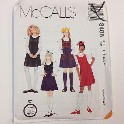 8408 UNCUT McCalls SEWING Pattern Girls Pullover Jumper Empire Bodice 6 Gore