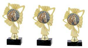 """3er Serie Pokale """"Pferdesport"""" (570a-PF) H=23,5-21,5 cm inkl.Gravur 23,95 EUR"""