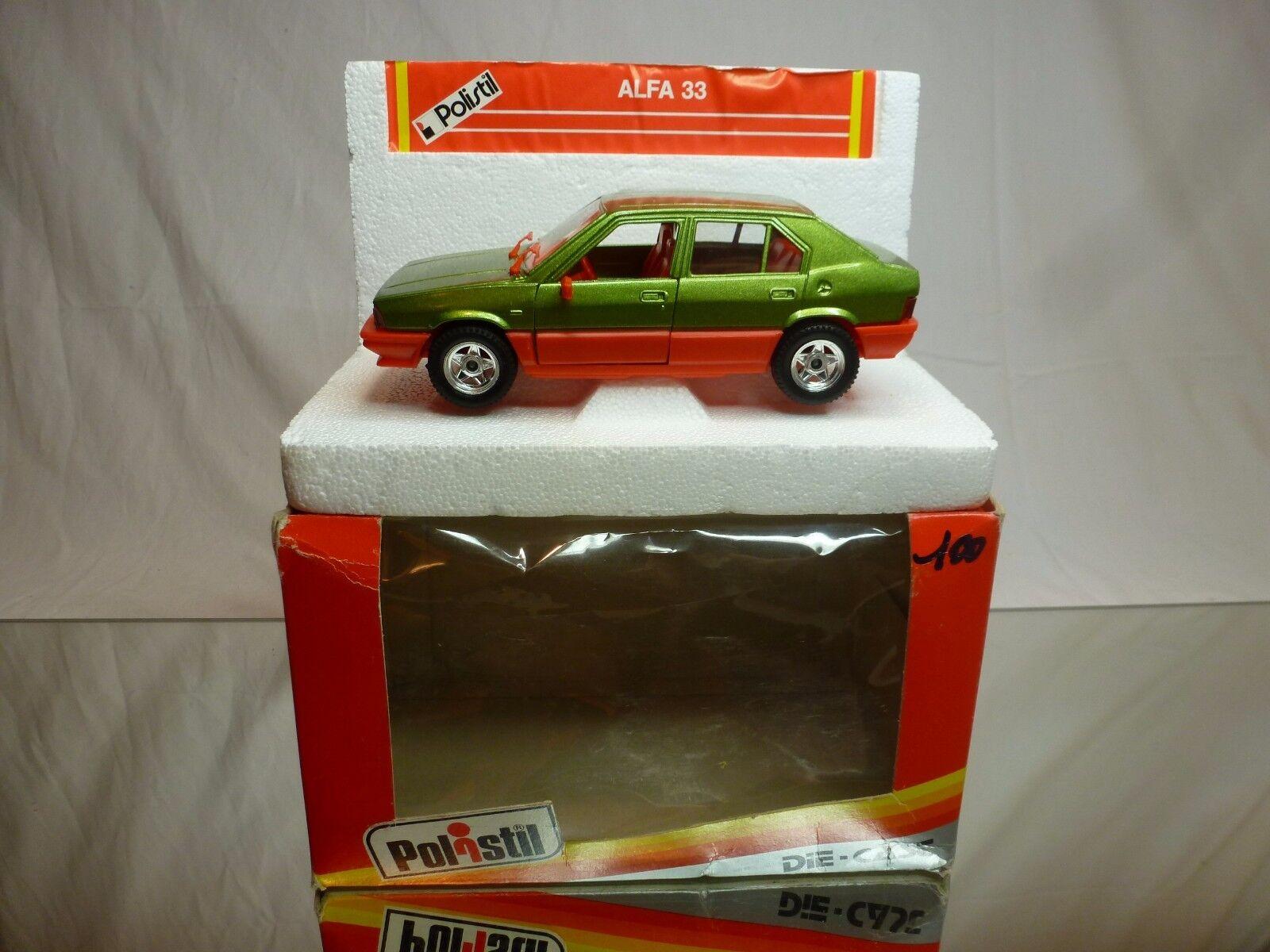 POLISTIL S317 ALFA ROMEO ALFA 33 - verde METALLIC 1 25 - EXCELLENT IN BOX