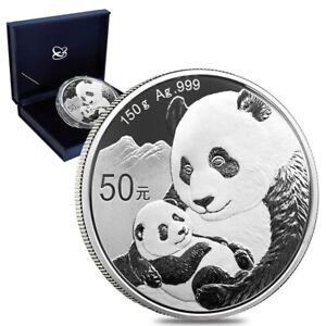 2019 150 gram Chinese Silver Panda 50 Yuan .999 Fine Proof (w/Box & COA)