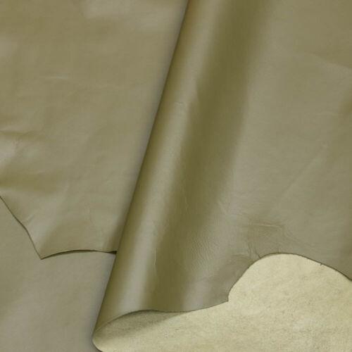 Cuero de Piel de Oveja Rebajador Veg tan verde un paneles de tamaño 0.8-1 mm de espesor para encuadernaciones