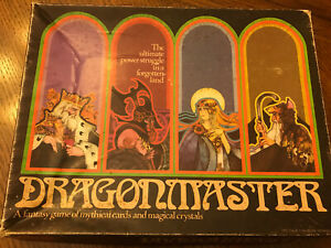 Vintage-Dragonmaster-Board-Game-incomplete-Milton-Bradley-1981-Fantasy-Game