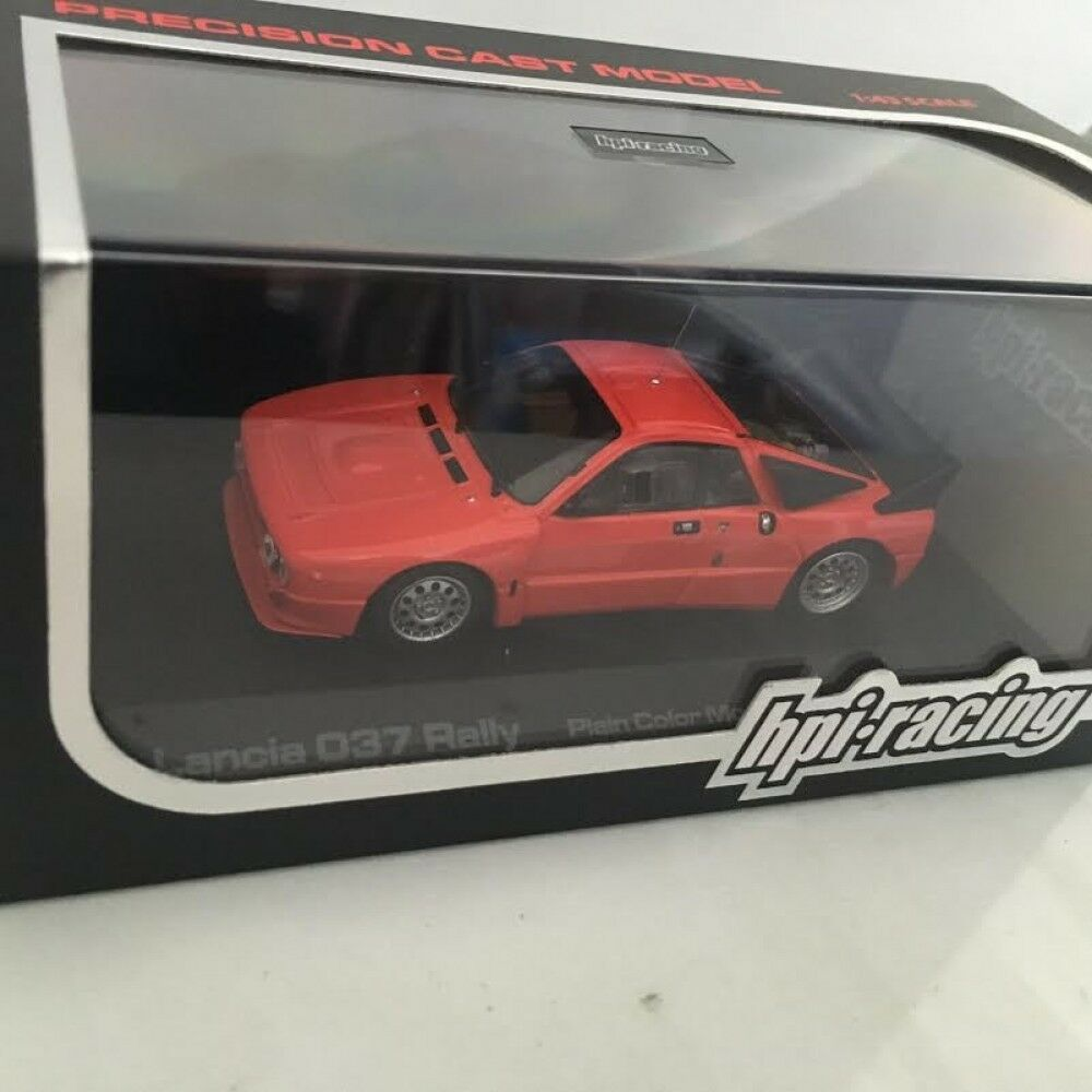 Hpi 1/43 LANCIA 037 Rally Plain Color Model rosso hpi960 Sale Don't Miss