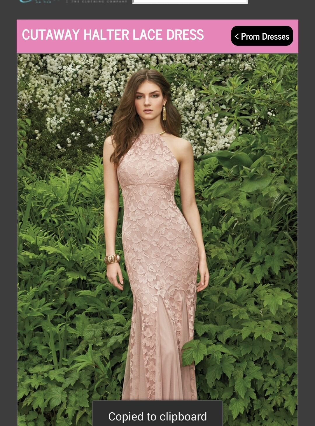 Cutaway Halter Lace Dress (Xscape By By By Joanna Chen) Sz 6 Nude color b5251b