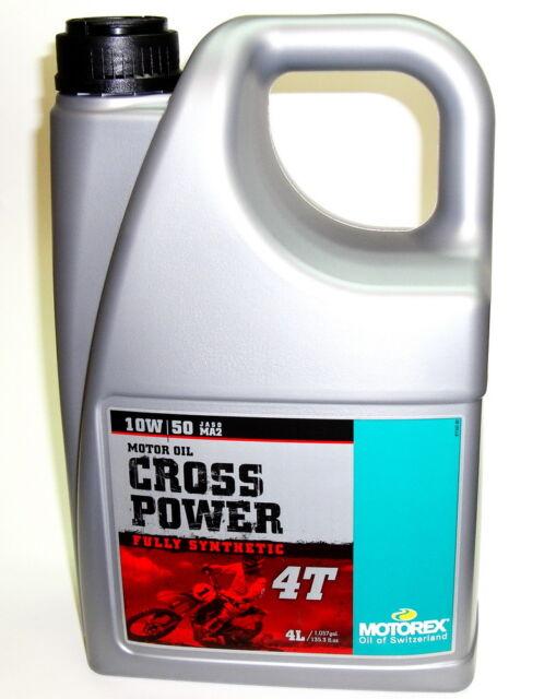 Motorex Cross Power 10w50 4L JASO MA2 NEU  crosspower vollsynthetisch  4T MA