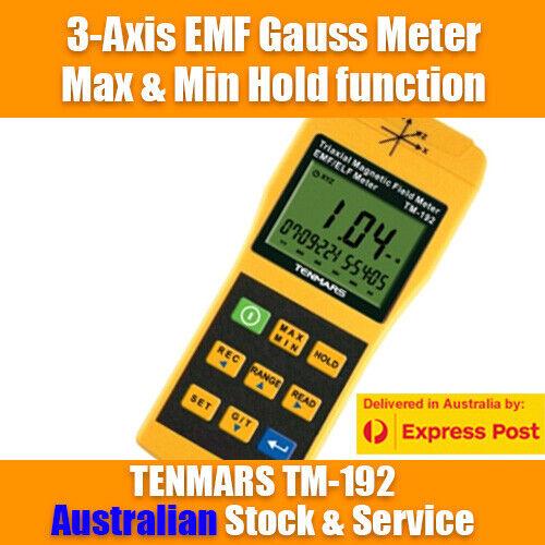 3-Axis EMF Gauss meter TENMARS TM-192 - Oz Seller - Magnetic Fields