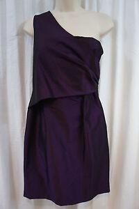 77c2407d36a Jones New York Dress Sz 6 Purple Shimmer One Shoulder Cocktail ...
