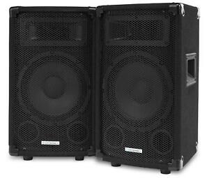 2x-Enceintes-Sono-DJ-PA-Disco-Haut-Parleur-3-Voies-Subwoofer-8-034-20cm-600w
