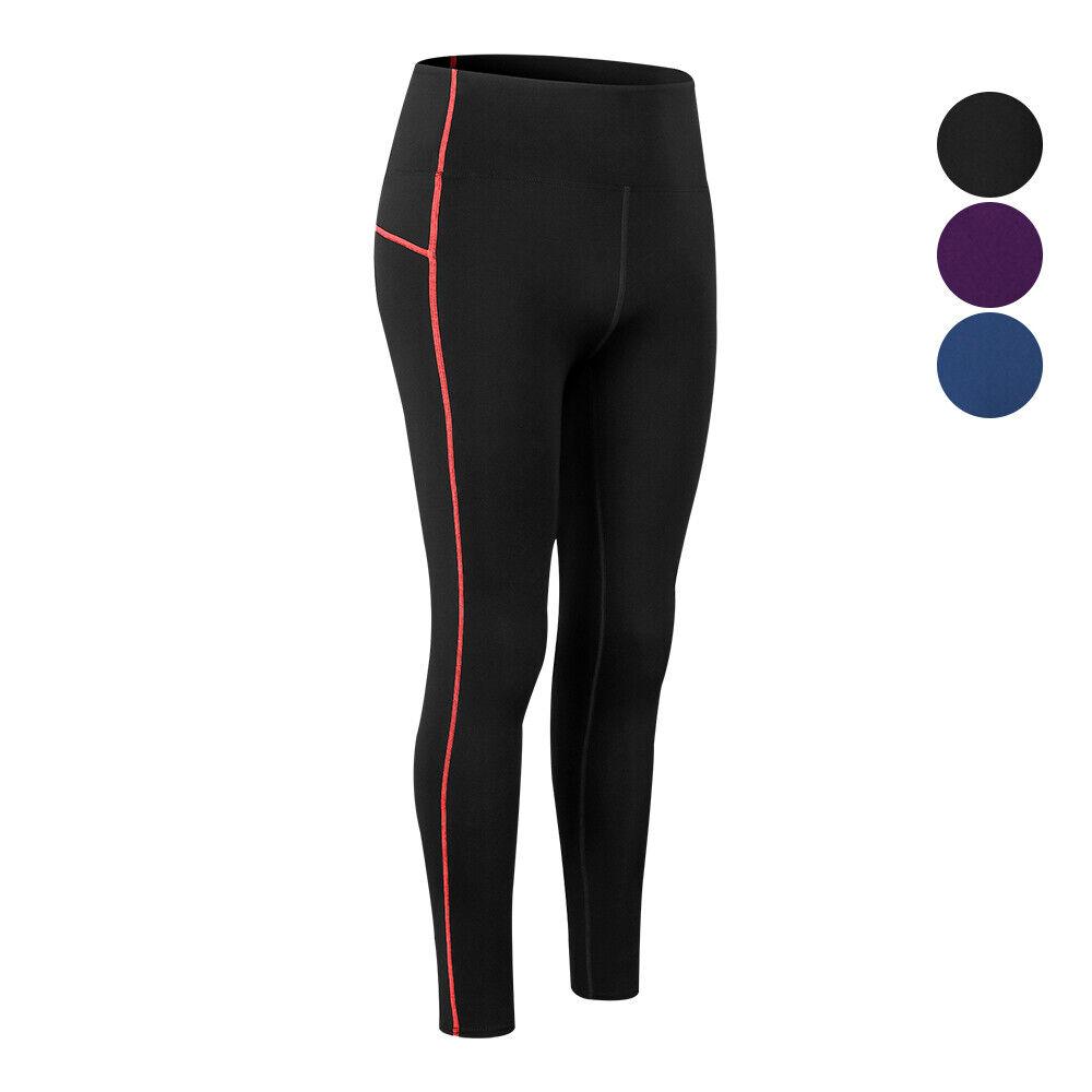 Women's Fleece Lined Thermal Bottoms Long Underwear Baselayer Workout Yoga Pants