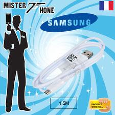 CABLE DATA ORIGINAL SAMSUNG 150CM MICRO USB BLANC ECB-DU4EWE SYNCHRONISATION