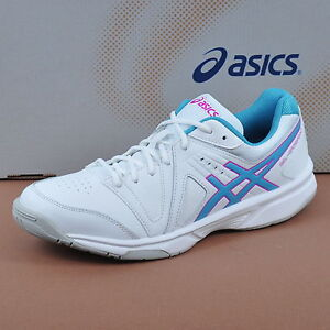 ASICS GEL GAMEPOINT DONNA TENNIS SCARPE SPORT BIANCO/Blue Jewel/Fucsia