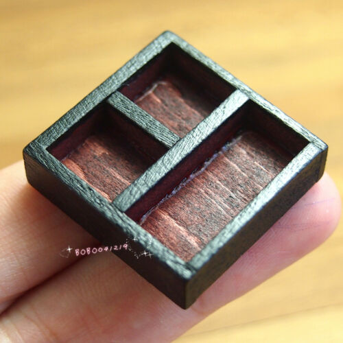 Dollhouse Miniature 1:12 Toy A Wood Grid Store Box Length 2.3cm SPO340