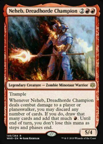 MTG Rare Neheb War of the Spark IN HAND!!! Dreadhorde Champion x4 NM