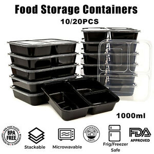 20X-Meal-Prep-Plastic-Food-Storage-Containers-Freezer-Microwavable-Lunch-Box