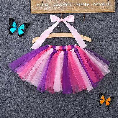 Toddler Girl's Baby's Fluffy Pettiskirt Tutu Princess Skirt Dancewear Party 0-8Y