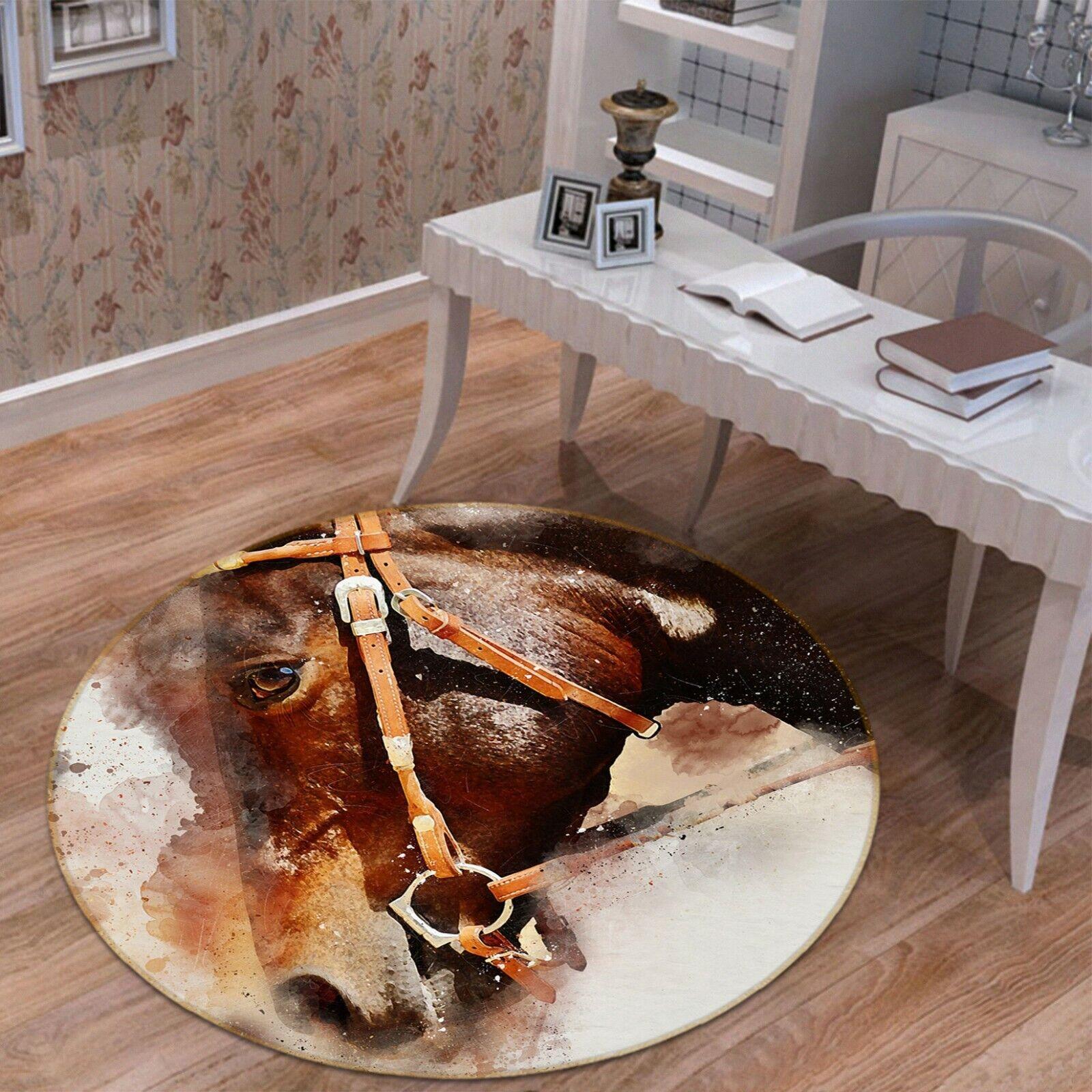 3d Cavallo Testa a57 animale gioco antiscivolo tappeto elegante foto TAPPETO Wendy