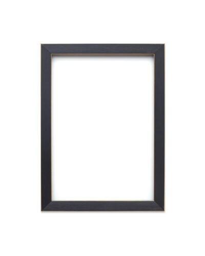 Plat moderne brossé noir or avec contour couleur photo//image//poster cadre