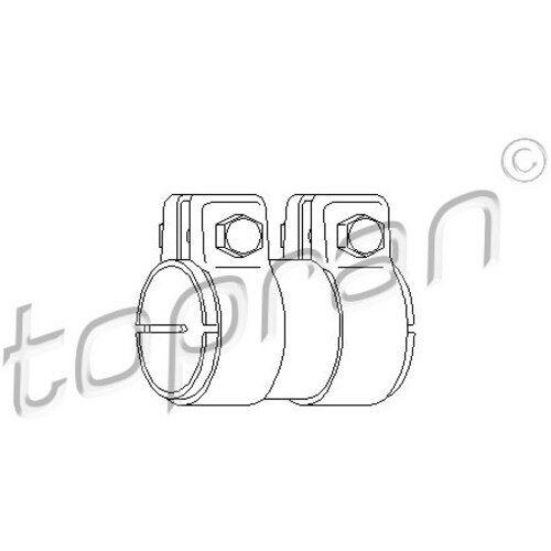 Abgasanlage 107 220 TOPRAN Original Rohrverbinder