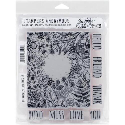 Tim Holtz Rubber Stamp Set Botanical Sketch CMS 216