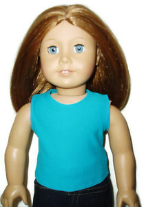 Teal-Tank-Top-T-Shirt-18-inch-Doll-Clothes-fits-American-Girl-Dolls