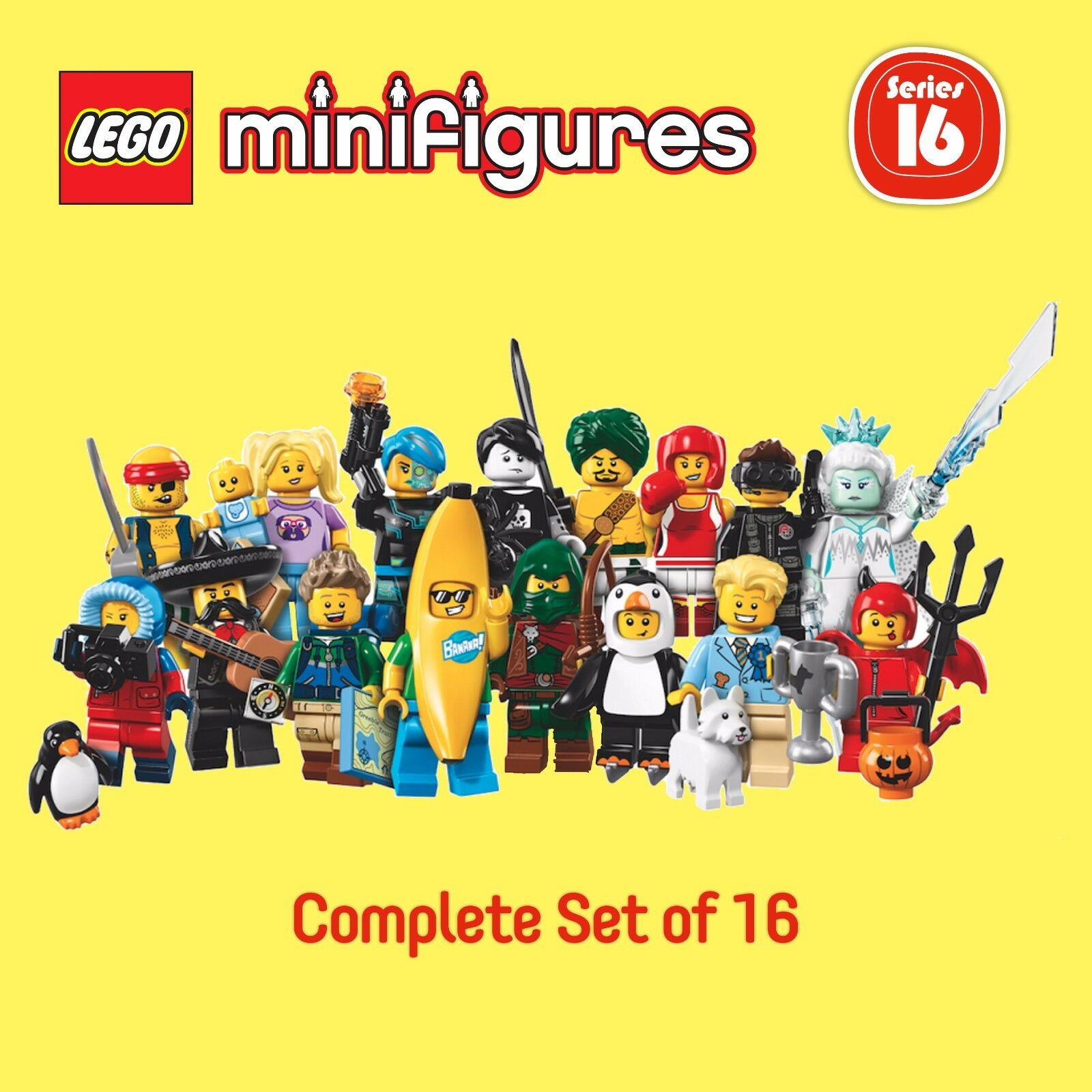 garanzia di credito LEGO 71013 Minicifras Series Series Series 16 (completare set of 16)  da non perdere!