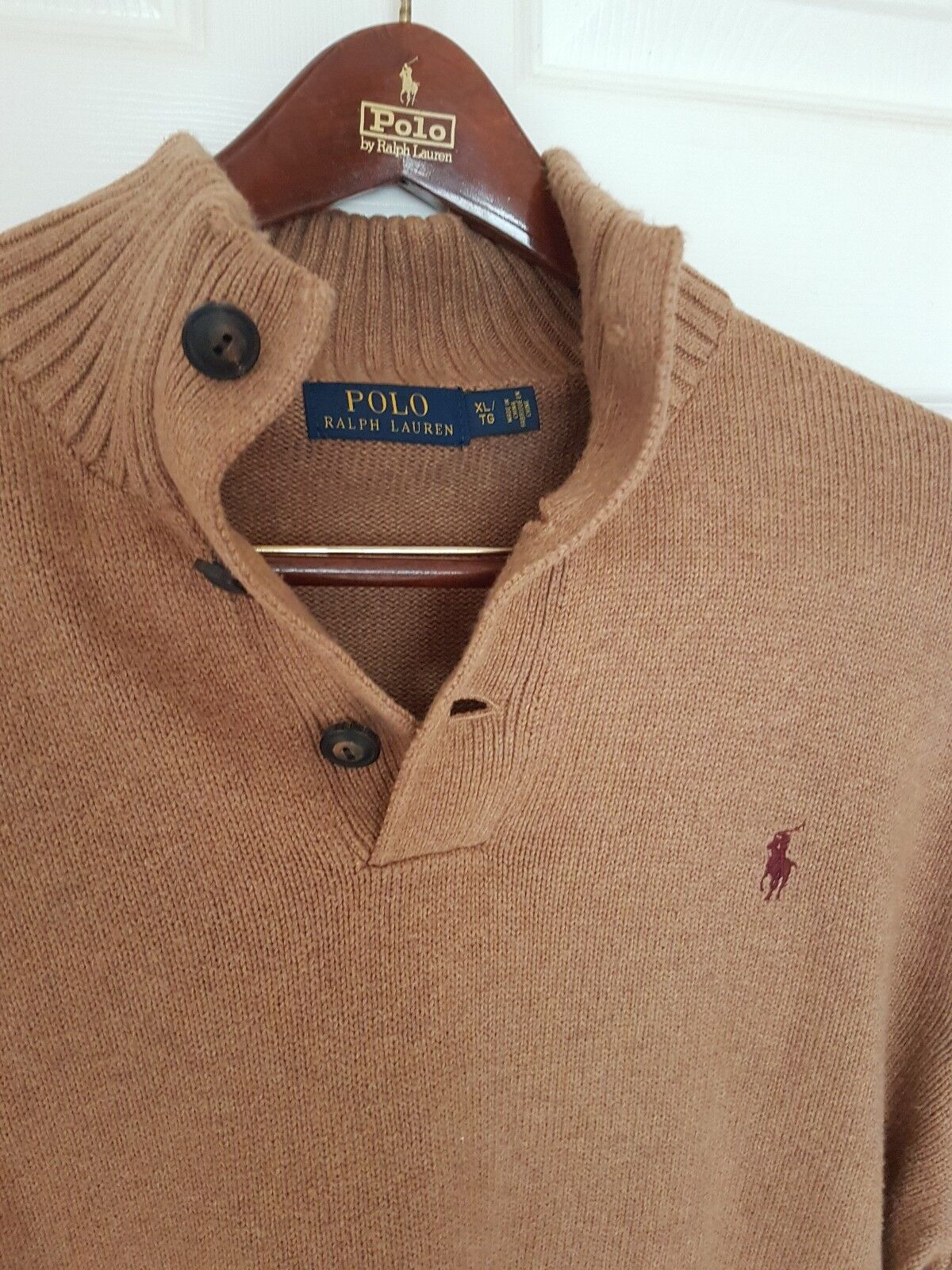 Herren RALPH LAUREN three buttoned jumper/sweater. Größe XL/TG.