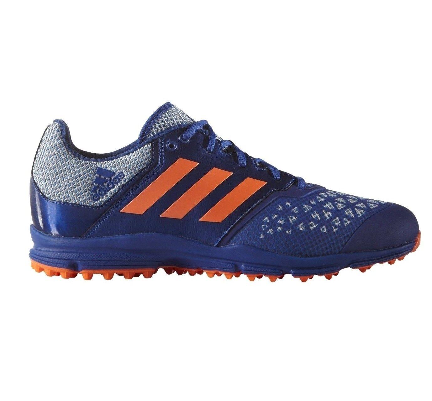 Adidas Zone Dox Hockey shoes bluee orange Trainers Cleats AQ6520 Men's Size 10
