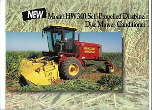 Details about OEM New Holland HW340 Self Propelled Discbine Mower  Conditioner Sales Brochure