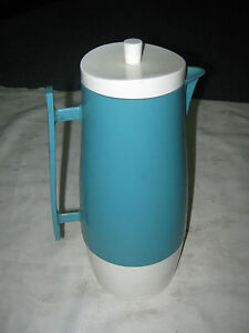 Vintage-Retro-1960s-70s-English-Blue-Aladdin-32-Fl-Oz-Pitcher-Jug-Thermos-Flask