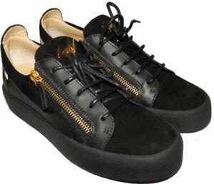 Low de negras Mocasines de Doble Gold deporte Zip Zanotti Top Zapatillas Giuzeppe ante 40 qwC858
