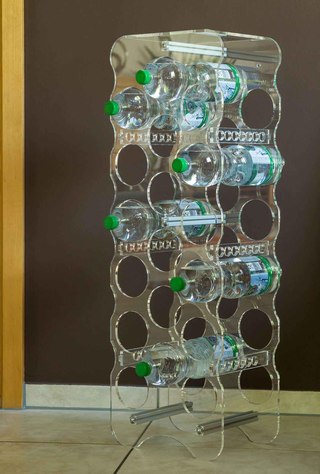 Flaschenregal  Plexiglas für 9 bis 18 Flaschen  Meinplexi
