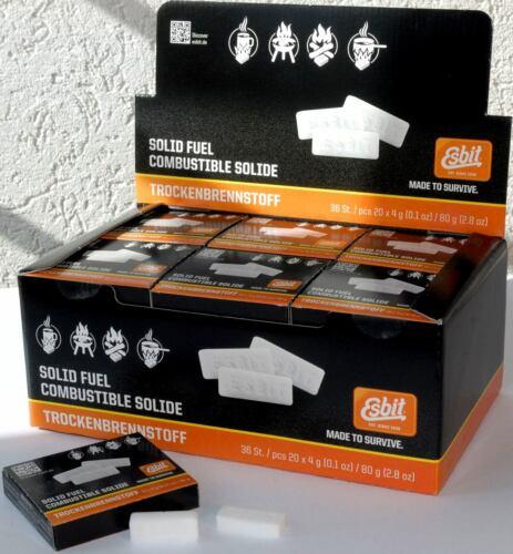 VE zu 36 Pack ESBIT-TROCKENBRENNSTOFF-TABS 20x4g  per Original