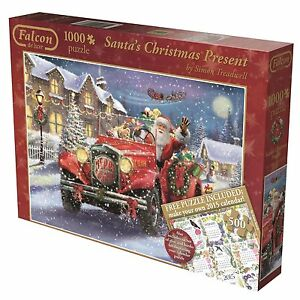 FALCON-SANTA-039-s-CHRISTMAS-PRESENT-1000-500-Pc-Jigsaw-Puzzles-Father-Toys