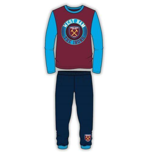 West Ham United Boys Pyjamas PJs Kids Nightwear 4 to 12 Years Long Sleeve Maroon