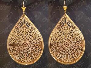 18K-Gold-Filled-Large-Tear-Drop-Dangle-Earrings-Teardrop