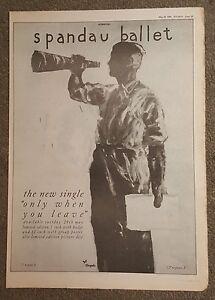 Spandau-Ballet-Only-when-Leave-1984-press-advert-Full-page-30-x42cm-mini-poster