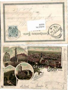 92038-Tolle-Litho-Gruss-aus-Baden-b-Wien-Hauptplatz-Ei