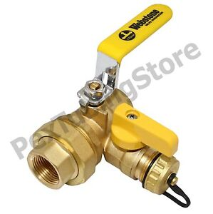 "1"" IPS Threaded Union Webstone Pro-Pal Ball Drain/Purge Valve #40434"