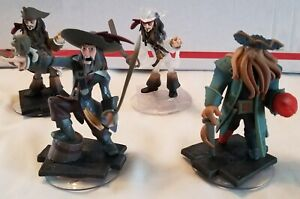 Disney Infinity 1.0 Characters Pirates 4 Figures Used