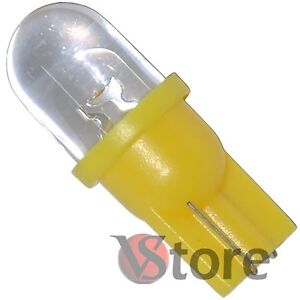 2-LED-T10-GIALLO-Lampade-Lampadine-Per-Luci-Targa-e-Posizione-W5-12V