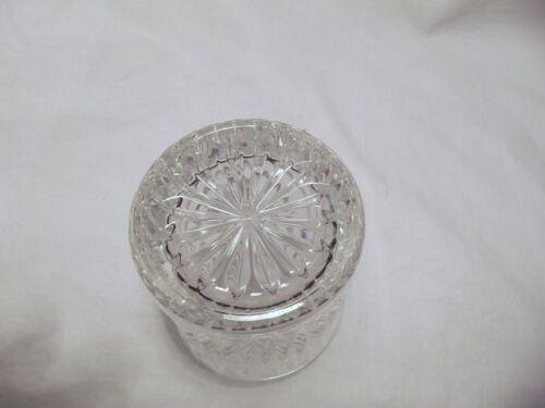 *NEW* Set of 4 vintage FOSTORIA crystal CLEAR glass ASPEN rock dof GLASSES