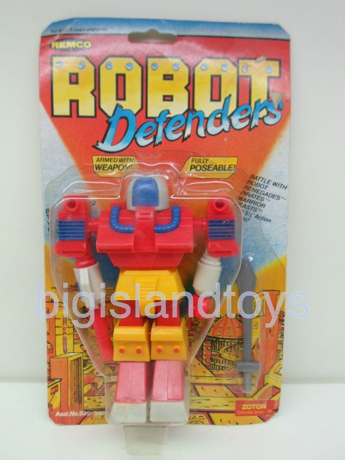 Robot Defenders & Renegades Remco 1982 Zoton Action Figure Sealed