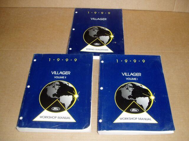 1999 Mercury Villager Minivan Service Shop Dealer Repair Wiring Diagram Manual
