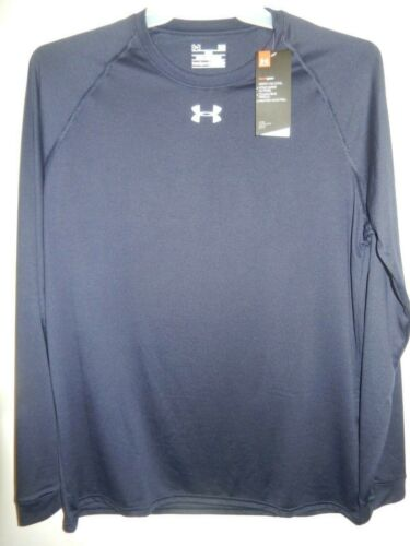 91029-11 Mens UNDER ARMOUR Long Sleeve Shirt 1268475 410 Blue $29.99 New