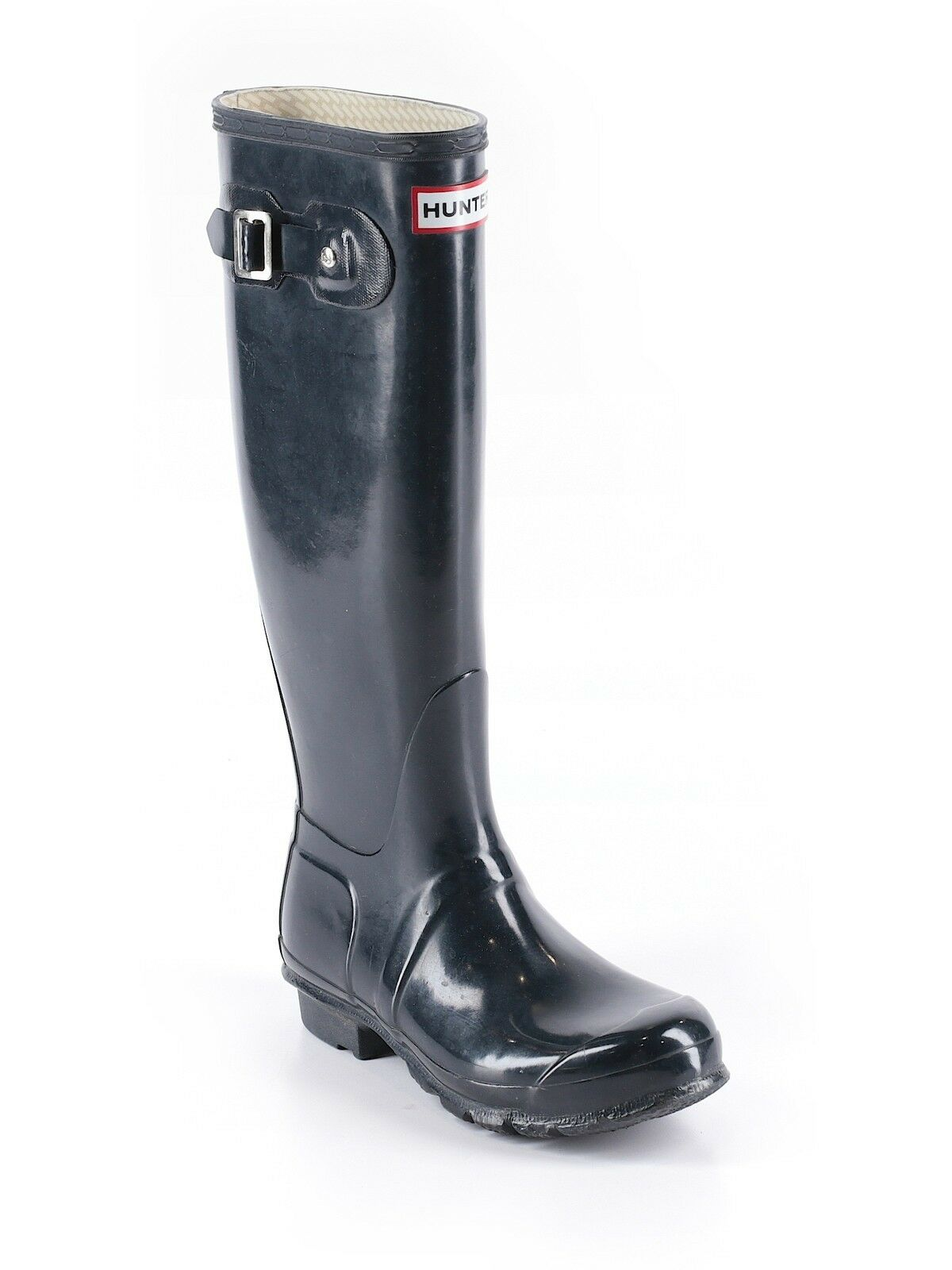 Damens Navy Blau Rain Original Gloss Tall Hunter Rain Blau Stiefel Wellies Größe 5 36 fb1589