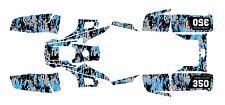 Yamaha Warrior 350 Graphics Decal kit Digital Camo Blue