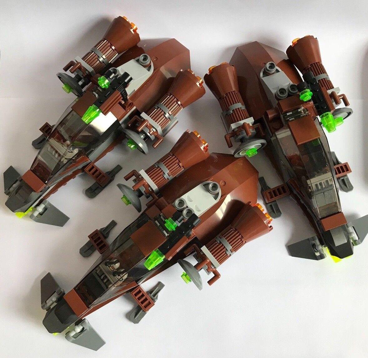 LEGO parts only - ENDOR REBEL SQUADRON - STAR WARS - 3 FOREST BIKES my design