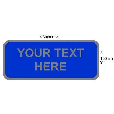 Reflective Badge Customised Personalised Small Front Response Ambulance