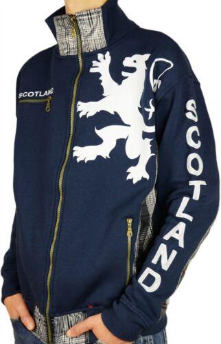Scotland Tartan Mens Insert Small Lion Zipper Navy Size Top RwIIE1